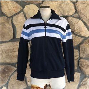 {Adidas} Full Zip Navy Striped Jacket